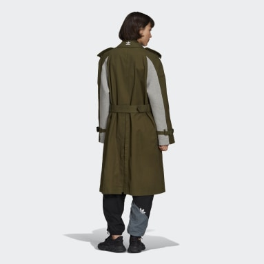 Dames Originals Groen Trenchcoat