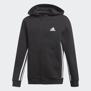Boys Gym & Träning Svart Must Haves 3-Stripes Track Jacket