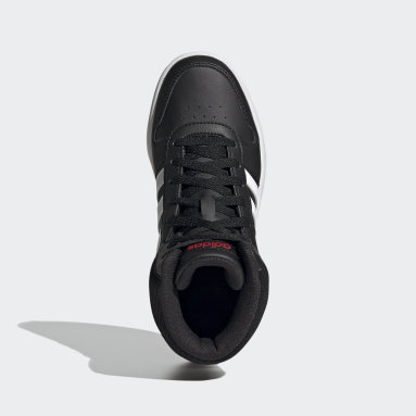 Çocuklar Sport Inspired Siyah Hoops 2.0 Mid Ayakkabı