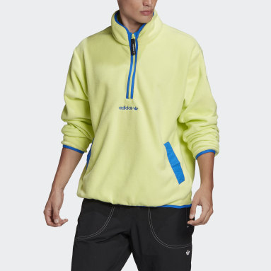 Men Originals Yellow adidas Adventure Polar Fleece Half-Zip Sweatshirt