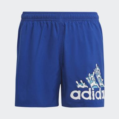 Kids 4-8 Years Swimming Blue Aaron Kai Primeblue Shorts
