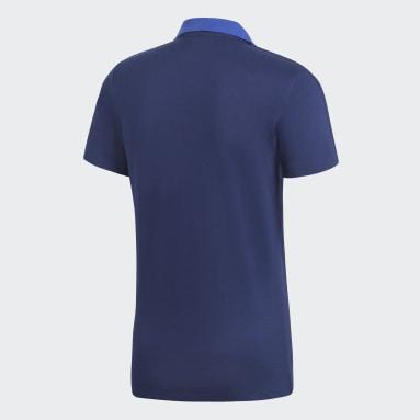 Polo coton Condivo 18 Bleu Hommes Football