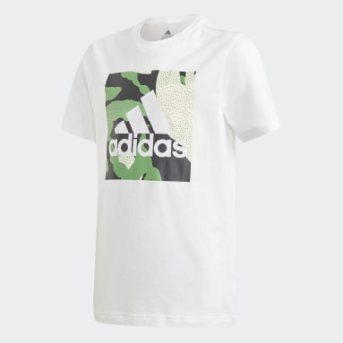 T-shirt graphique Camo Blanc Garçons Fitness Et Training