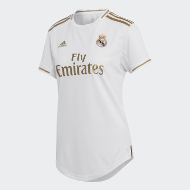 Women Football White Real Madrid Home Jersey