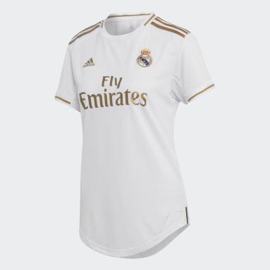 Dam Fotboll Vit Real Madrid Home Jersey