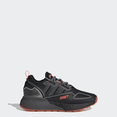 Youth Originals Black ZX 2K Boost Marvel Shoes