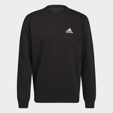 Men Sport Inspired Black Essentials Fleece Sweatshirt
