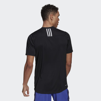 Erkek Training Siyah Primeblue Designed To Move Sport 3-Stripes Tişört