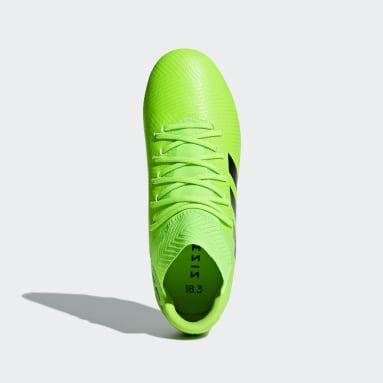 Calzado de Fútbol Nemeziz Messi 18.3 Terreno Firme Verde Niño Fútbol