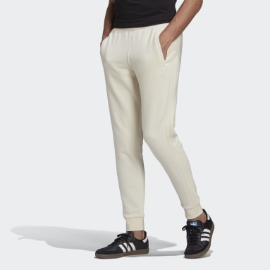 Men Originals White Adicolor 3-Stripes No-Dye Joggers