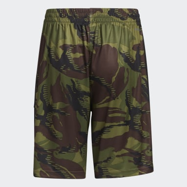 Youth Training Green Action Camo Shorts