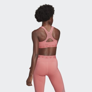 Women Training Pink Mesh Bra