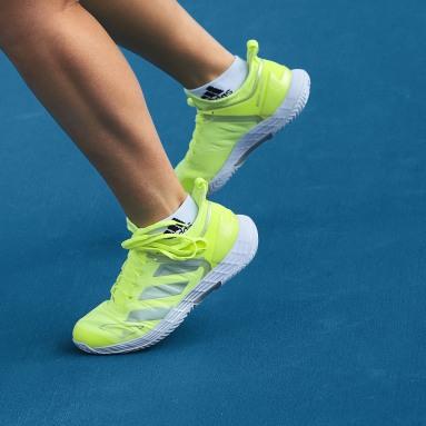 ผู้หญิง เทนนิส สีเหลือง รองเท้าเทนนิส Adizero Ubersonic 4