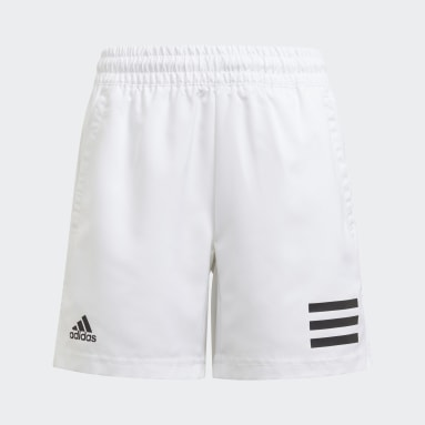 Youth Tennis White Club Tennis 3-Stripes Shorts