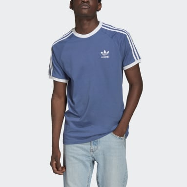 Mænd Originals Blå Adicolor Classics 3-Stripes T-shirt