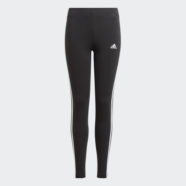 Girls Lifestyle Black adidas Essentials 3-Stripes Leggings