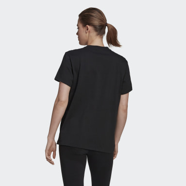 Women Sport Inspired Black Essentials Logo Boyfriend Tee