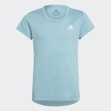 Meisjes Fitness En Training Groen AEROREADY 3-Stripes T-shirt