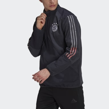 Men Football Grey FC Bayern Travel Fleece Top