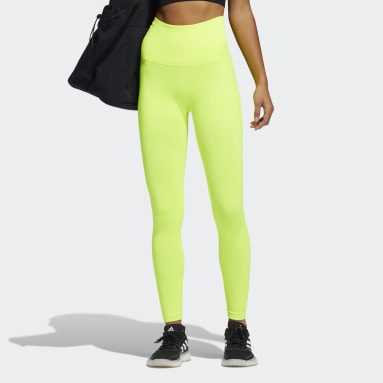 Women Training Yellow Formotion Sculpt Tights