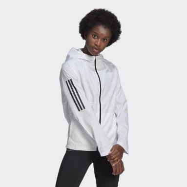 Women's Running White Own the Run Hooded Wind Jacket