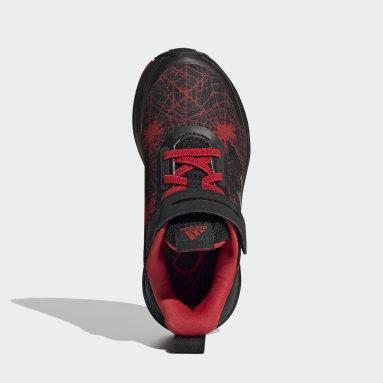 Çocuklar Koşu Siyah Marvel Spider-Man FortaRun Ayakkabı