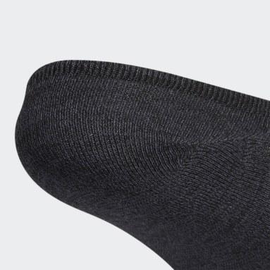 Men's Training Black Linear Superlite 2 Super-No-Show Socks 6 Pairs