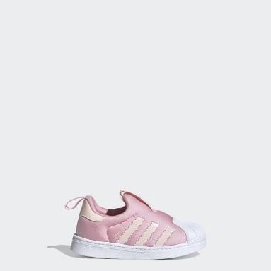 Infants Originals Pink Superstar 360 Shoes