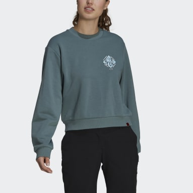 Sweat-shirt Five Ten Cropped Vert Femmes Five Ten