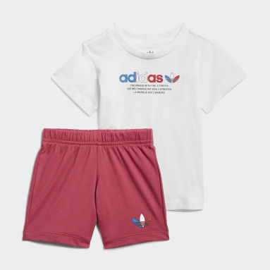 Ensemble Short et T-shirt Adicolor Blanc Enfants Originals