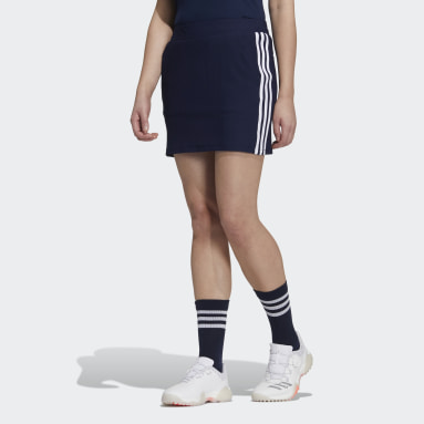 Women Golf Blue 3-Stripes Skort