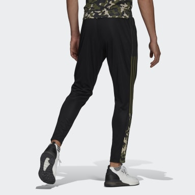 Men Football Black Tiro Graphic Track Pants