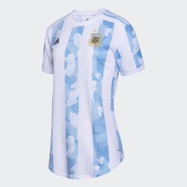 Camiseta Titular Selección Argentina Blanco Mujer Fútbol