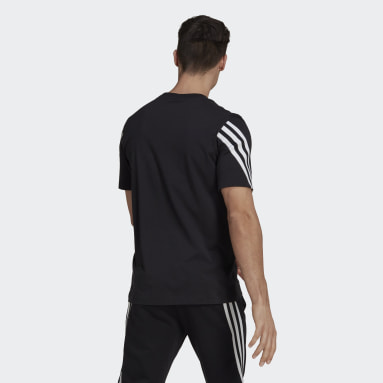Men Sportswear Black adidas Sportswear 3-Stripes Tape Tee