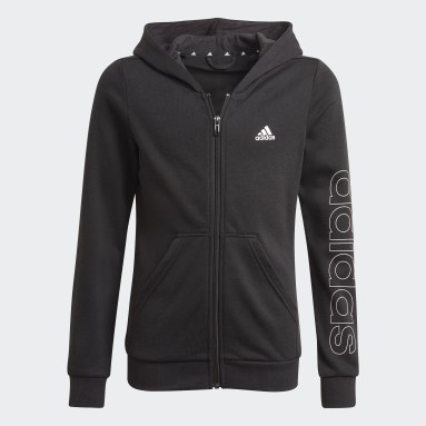 Girls Lifestyle Black adidas Essentials Full-Zip Hoodie