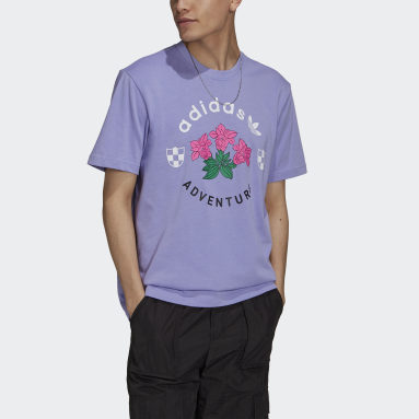 Mænd Originals Lilla adidas Adventure Flowers T-shirt