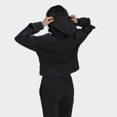 Women Originals Black Boxy Hoodie