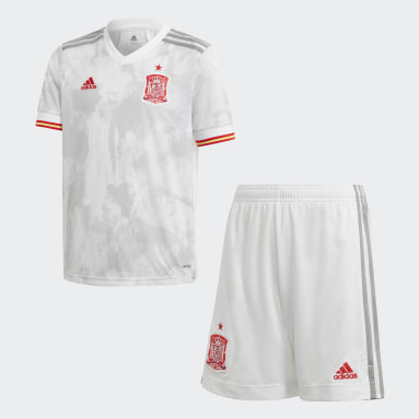 Kids Football White Spain Away Youth Kit