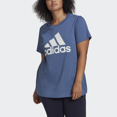 Women Sportswear Blue Must Haves Badge of Sport Tee (Plus Size)