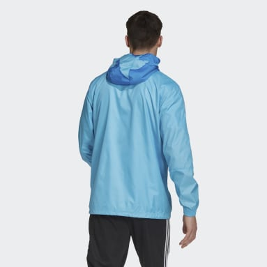Men Football Turquoise Real Madrid Windbreaker