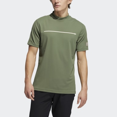 Men Golf Green Adicross Draw Fade Mock Tee