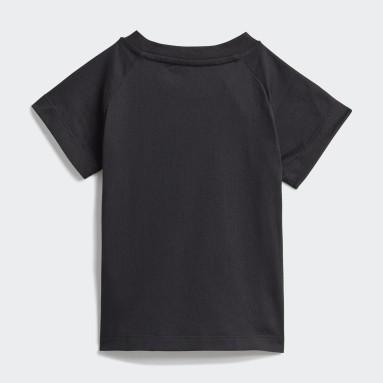 Polo Adicolor Estampado Negro Niño Originals