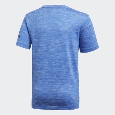 Youth 8-16 Years Yoga Blue Gradient T-Shirt