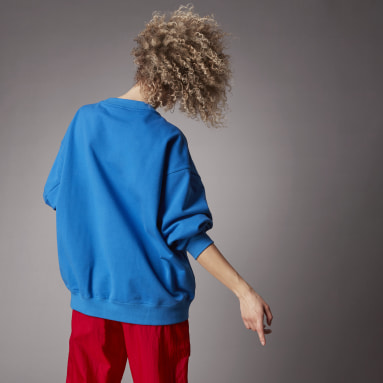 Felpa adicolor Oversize Blu Donna Originals