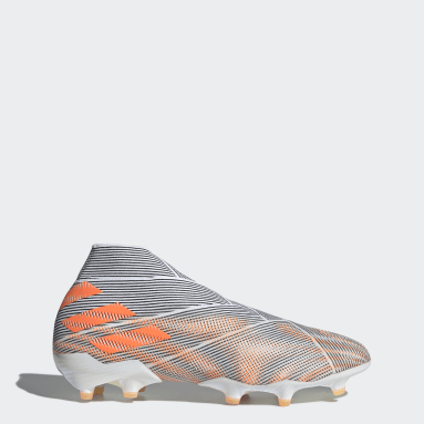 Soccer White Nemeziz+ Firm Ground Cleats
