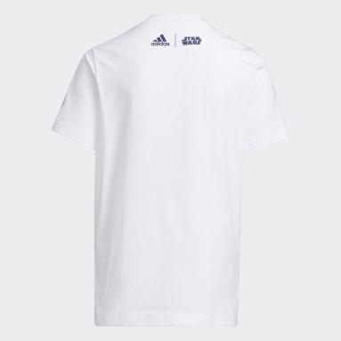 Youth 8-16 Years Basketball White Real Madrid Star Wars Yoda Graphic T-Shirt