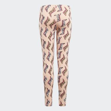 Meisjes Originals roze Allover Print Legging