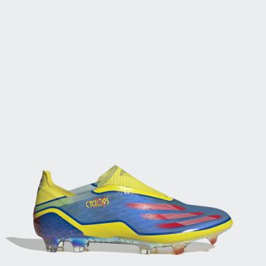 Mænd Fodbold Blå Marvel X Ghosted+ Laceless Firm Ground støvler