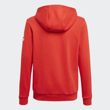 Boys Gym & Training Red Logo Full-Zip Hoodie