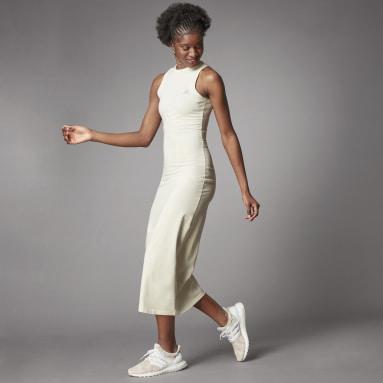 Frauen Freizeit Terra Love Organic Cotton Kleid Weiß